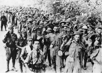 Filipino and American soldiers forced to move for 65 miles during the Bataan Death March. April 9, 1942